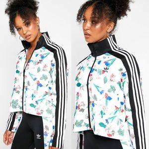 adidas Bellista Floral AOP Cropped Track Jacket